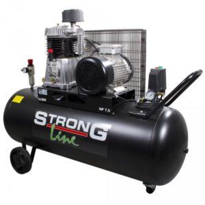 Air Compressor 3-V 7,5HP 925L/200L, Black